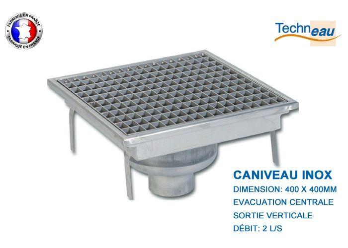 Caniveau Inox 400x400mm Pour Restaurant Cuisine Cantine Boucherie