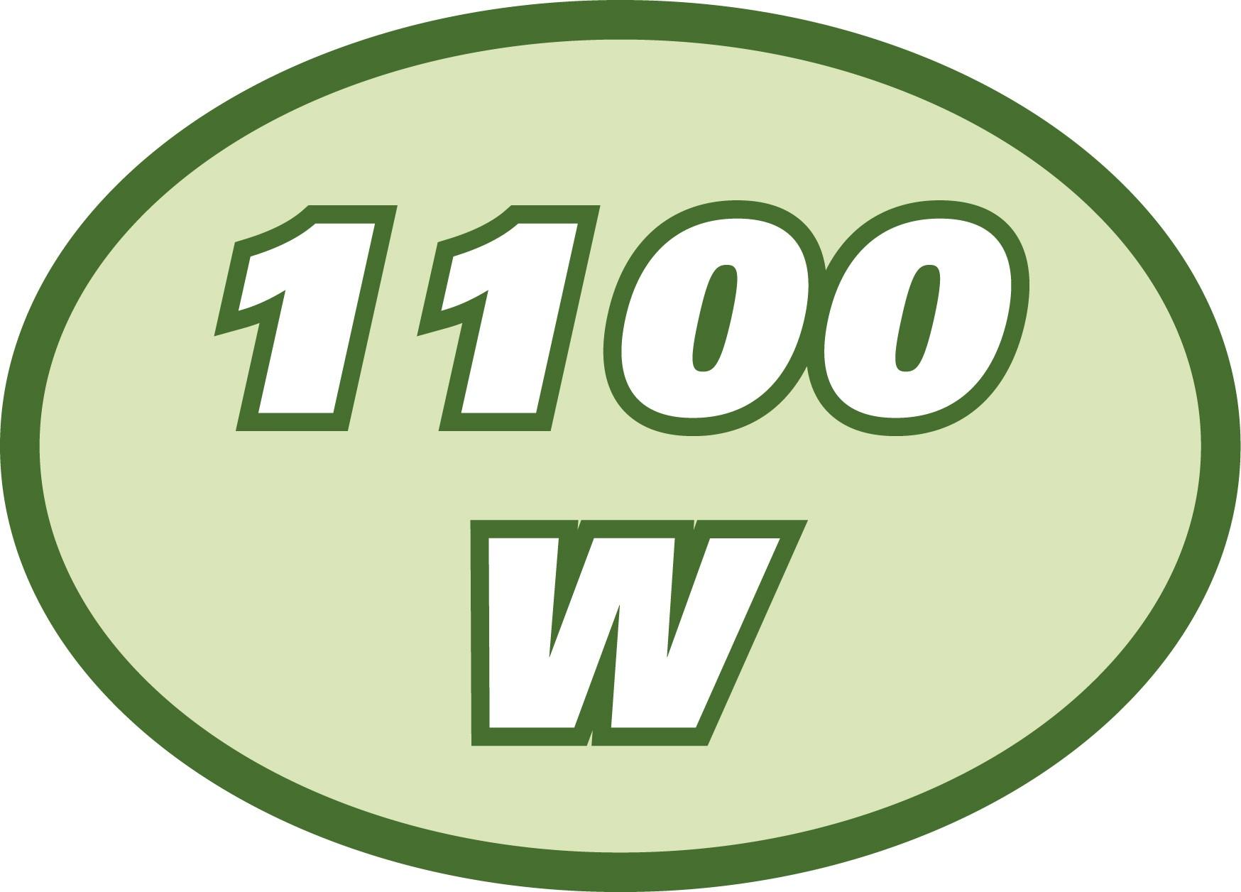 1100W