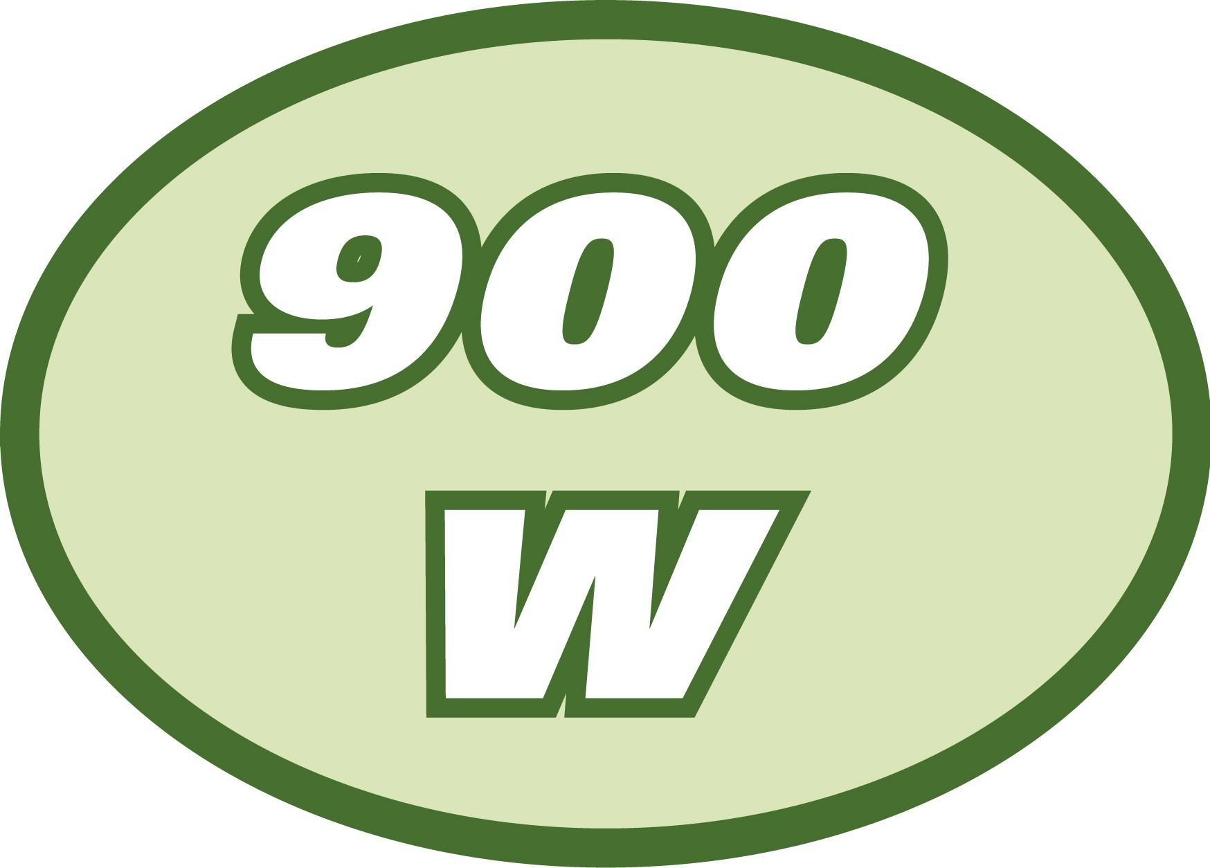 Puissance pompe 900W