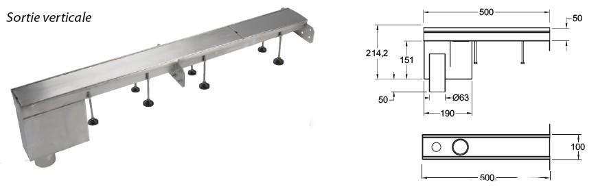 boite branchement evacuation extremité dn63 sortie verticale
