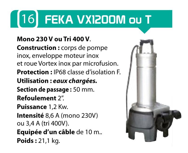 caracteristique pompe feka VX1200