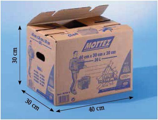 carton déménagement mottez 36L charge 15Kg