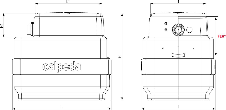 Dimension cuve 230L cal230 CALPEDA