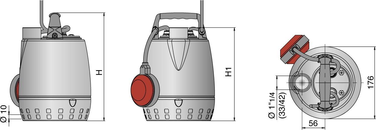 Dimension de la pompe GXRM